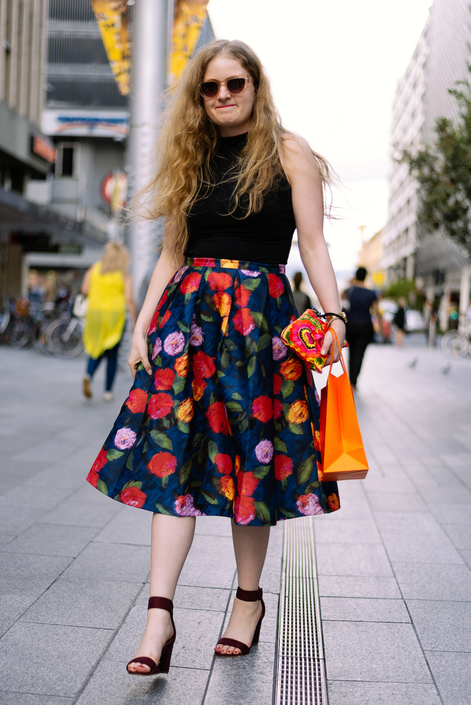 "SA: Leah Zahorujko, Graphic Designer. ""I'd say my style's classic feminine with an edge."" Photo: Dimitra Koriozos"