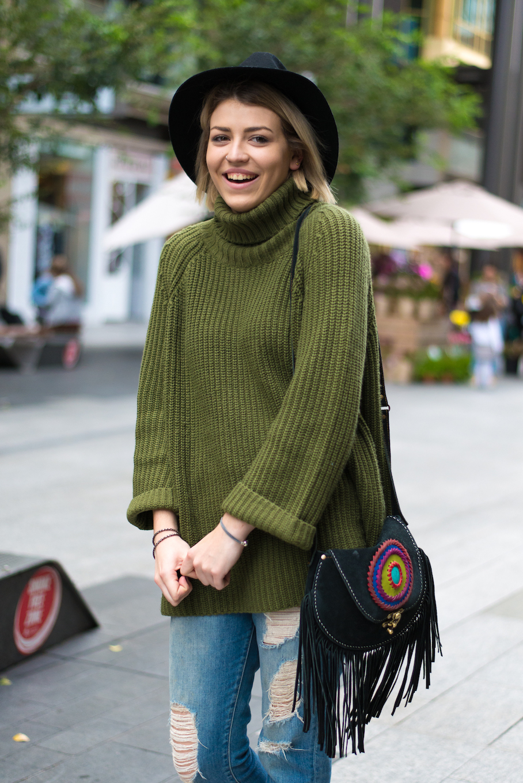 "SA: Zoe Vanstone, Hairdresser, Adelaide CBD. ""I like to be warm."" Photo: Dimitra Koriozos"