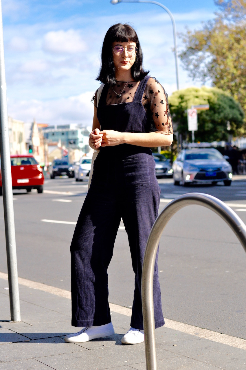 "NSW: Isabella Johnston, consultant, Newtown. ""I usually weat half thrifted and half store bought. That way no one would be wearing the same outfit."" Photo: Stacey Pallaras"