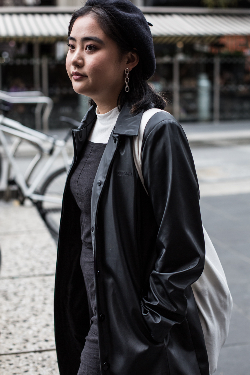 "VIC: Sandy Hsu, musician/artist, Bourke St. ""My style is a reflection of how I feel - How I want to feel each day. Mostly inspired by films, shoes and books…like Twin Peaks, The Craft."" Photo: Zoe Kostopoulos"