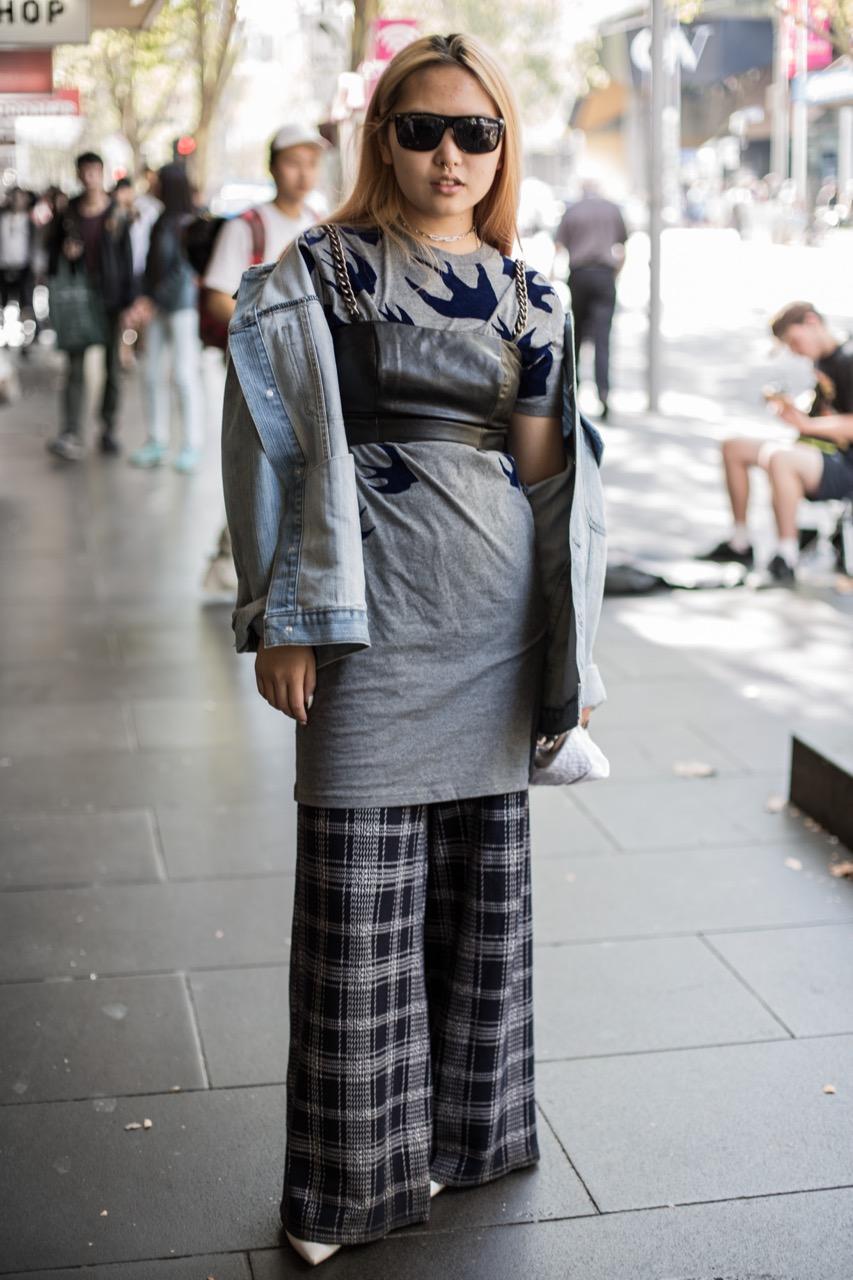 "VIC: Eva Chow, Swanston St Melbourne. ""I'm doing fahsion design at RMIT."". Photo: Zoe Kostopoulos"