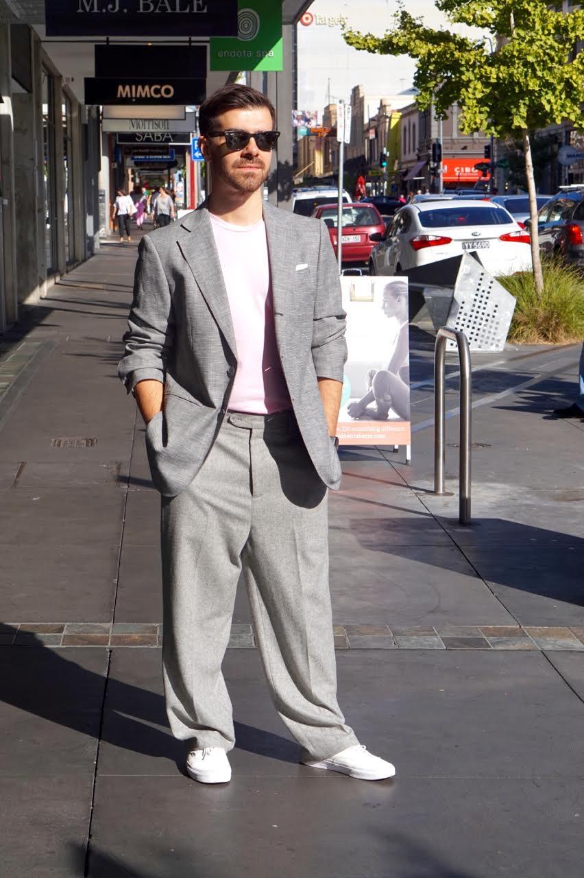 "SA: Petar Prodanovic, Fashion Illustrator, <a href=""http://www.rundlestreet.com.au/"" target=""_blank"">Rundle St East</a>, Adelaide.""On Wednesdays we wear pink."""