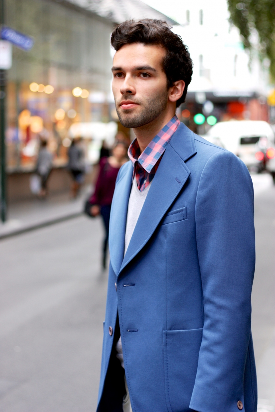 "Vic: Benjamin Johnstone, student, spotted in Little Bourke St, Melbourne. ""My style is colourful and eclectic."" Photo: Mary Tham"
