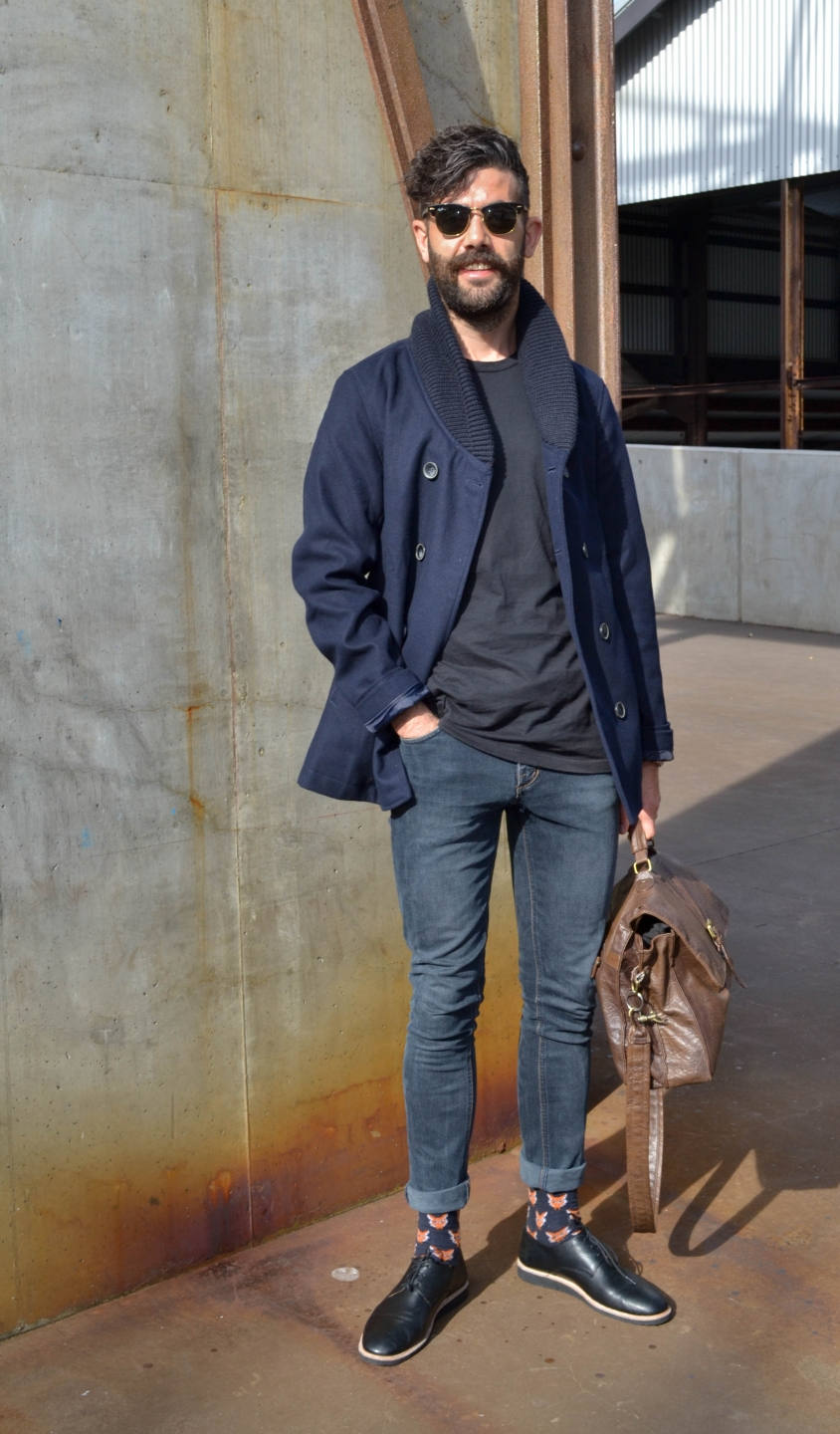 "NSW: Neil O'Sullivan, national marketing & communications manager, at Mercedes-Benz Fashion Week. ""My style is quirky for an Irishman."" Photo: Alice Sciberras."