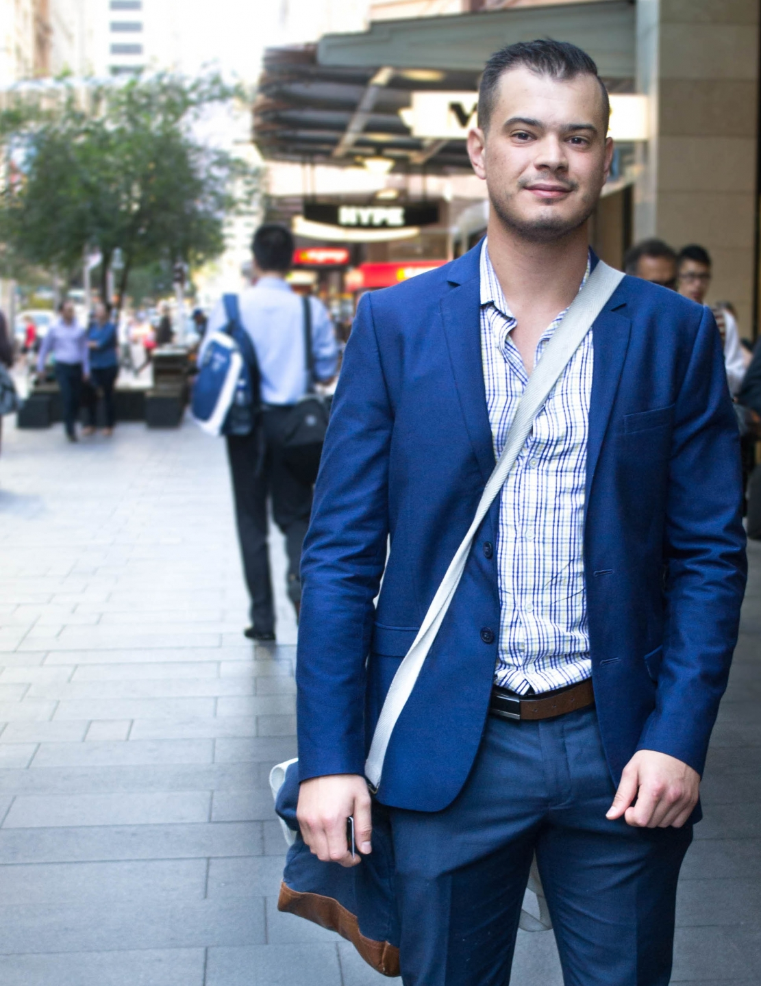 "NSW: Mark Stornelli, home finance manager, Pitt St Sydney.  My style's corporate casual."" Photo: Alice Sciberras"