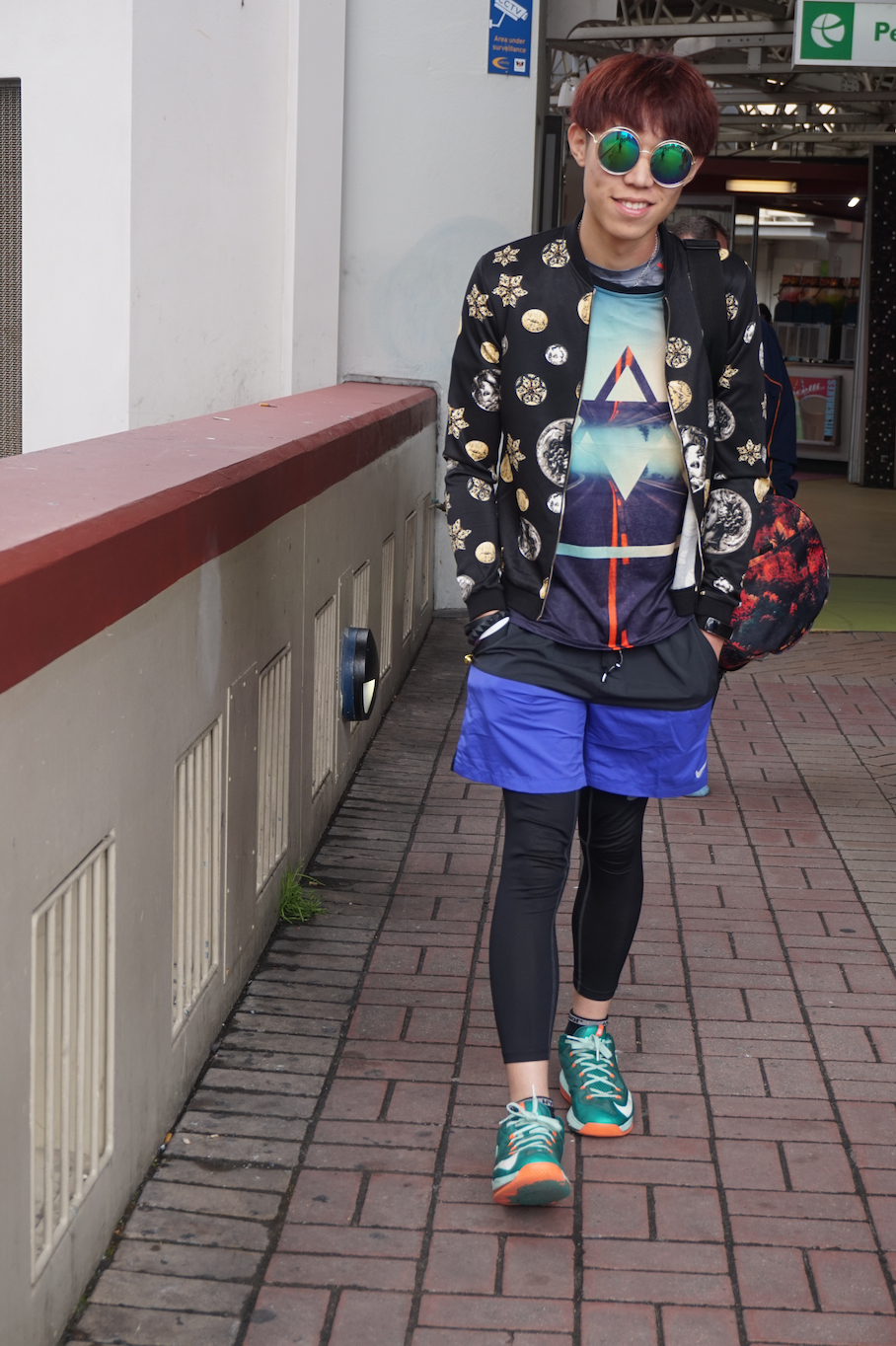 "WA: Jayce, student, Perth Train Station. ""My jacket was designed and made by a friend of mine."""