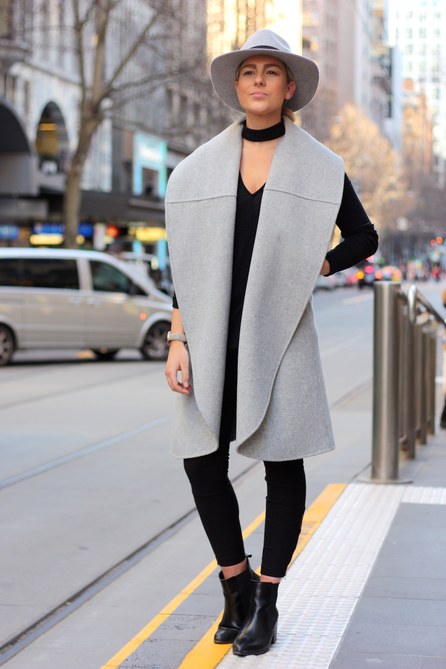 "Vic: Ashleigh Coleman, Kookai Sales Assistant, Melbourne. ""My style is Melbourne Chic."" <a href=""http://www.marythamphotography.weebly.com/"" target=""_blank""> Photo: Mary Tham </a>"