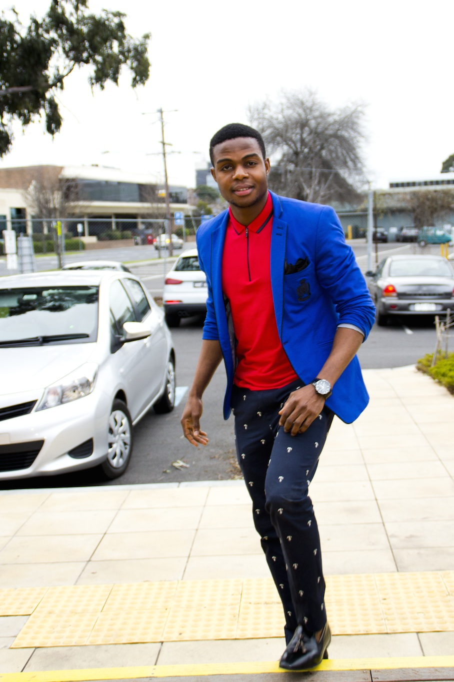 "Vic: Prince Vah, Dandenong. ""I love to wear a suit with casual outfit."" Photo: Les Brown"
