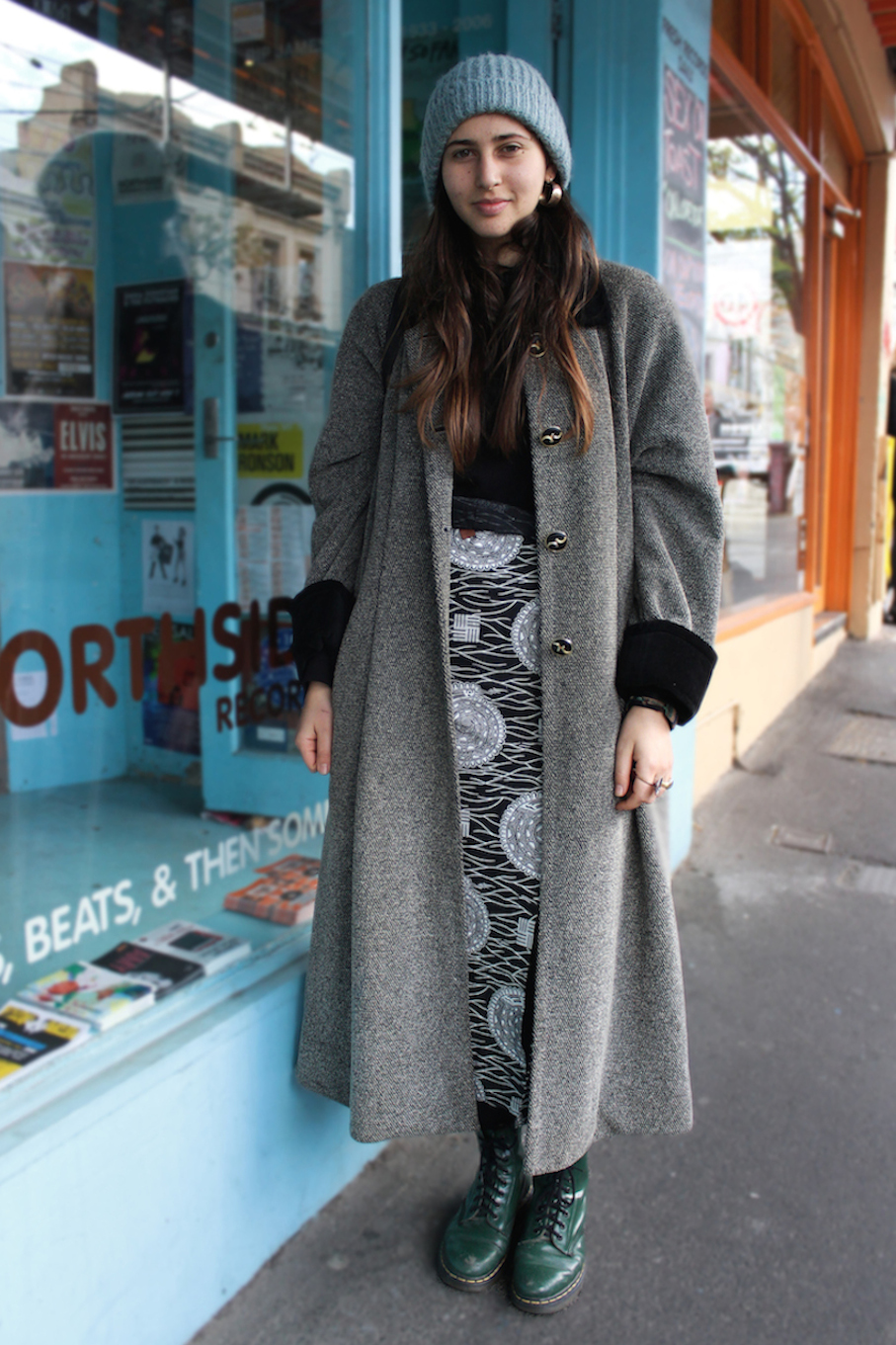 "Vic: Maria Dora Martino, Gertrude St Fitzroy. ""I'd describe my style as random."" Photo: Jenna Barlow"