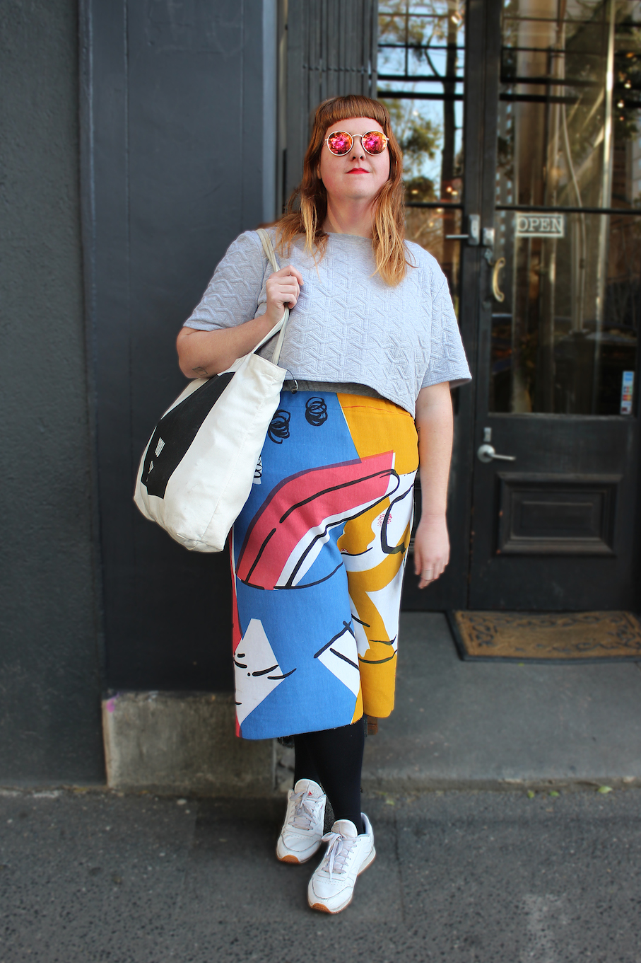 """Vic: Brooke Williams, artist. """"My style is any possible clash of colours that I'm into that day."""""""