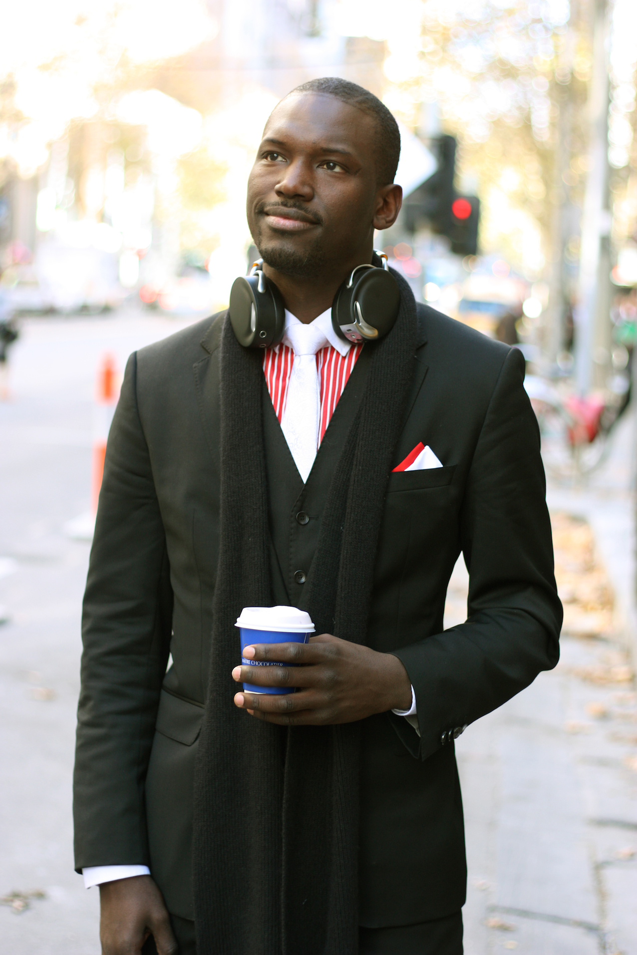 "VIC: Hamza D, sales assistant, Collins St Melbourne. ""I've got an eclectic  style. On my way to work."" Photo:  <a href=""http://www.marythamphotography.weebly.com/"">Mary Tham.</a>"