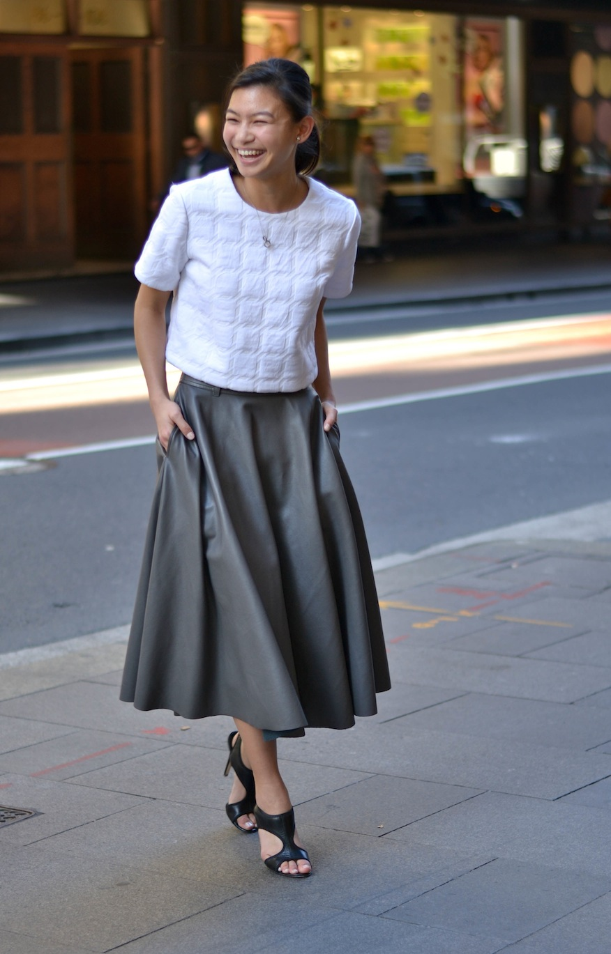 "NSW: Clare Wong, Marketing co-ordinator, Castlereagh St, Sydney. ""I dress to make myself happy."" Photo: Alice Scriberras"