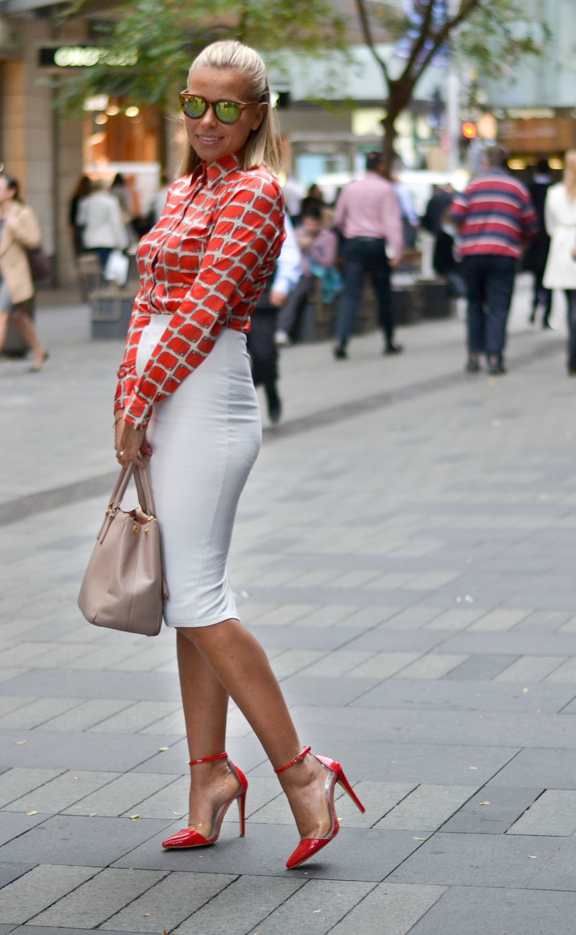 "NSW: Lucy Tregubenko, Westin Mall, Sydney. ""Live it."" Photo: Alice Scriberras"