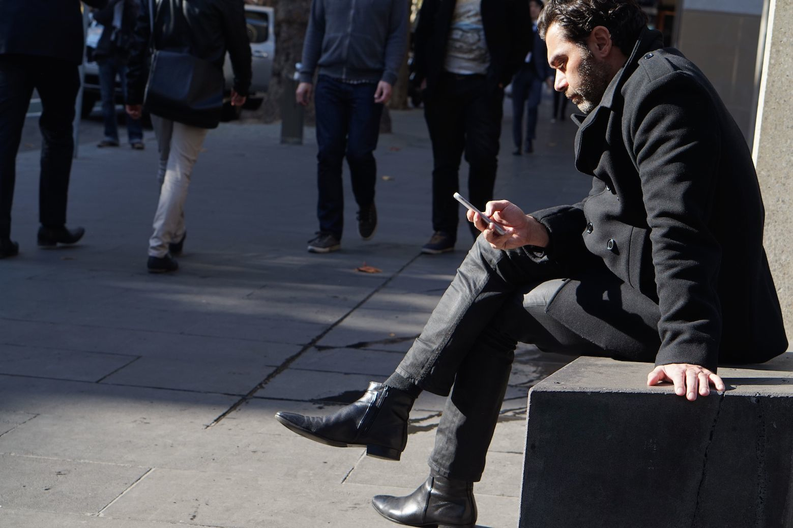 Vic: Spotted texting at Federation Square. Name Unknown.