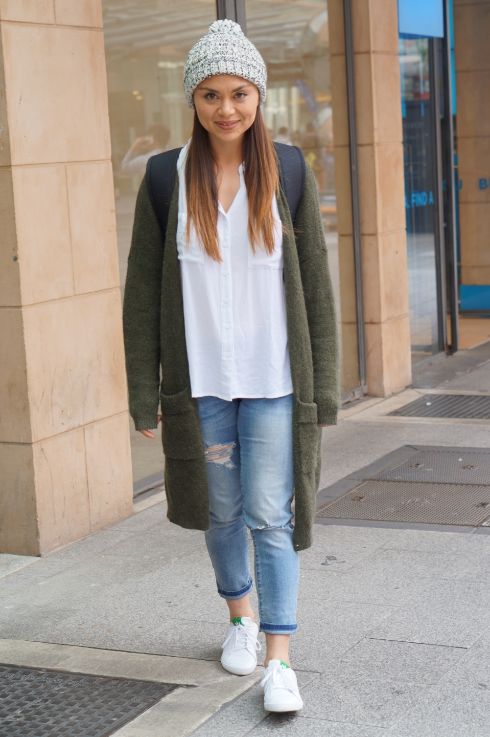 "SA: Eva Cameron, nutritionist, Rundle St Mall, Adelaide. ""My style is relaxed, basic, sporty."""