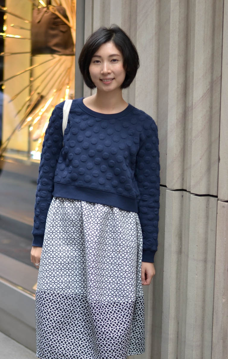 """NSW: Rebecca Qin, architect, Pitt St, Sydney. """"I'd describe my style as simple and natural."""" Photo: Alice Scriberras"""