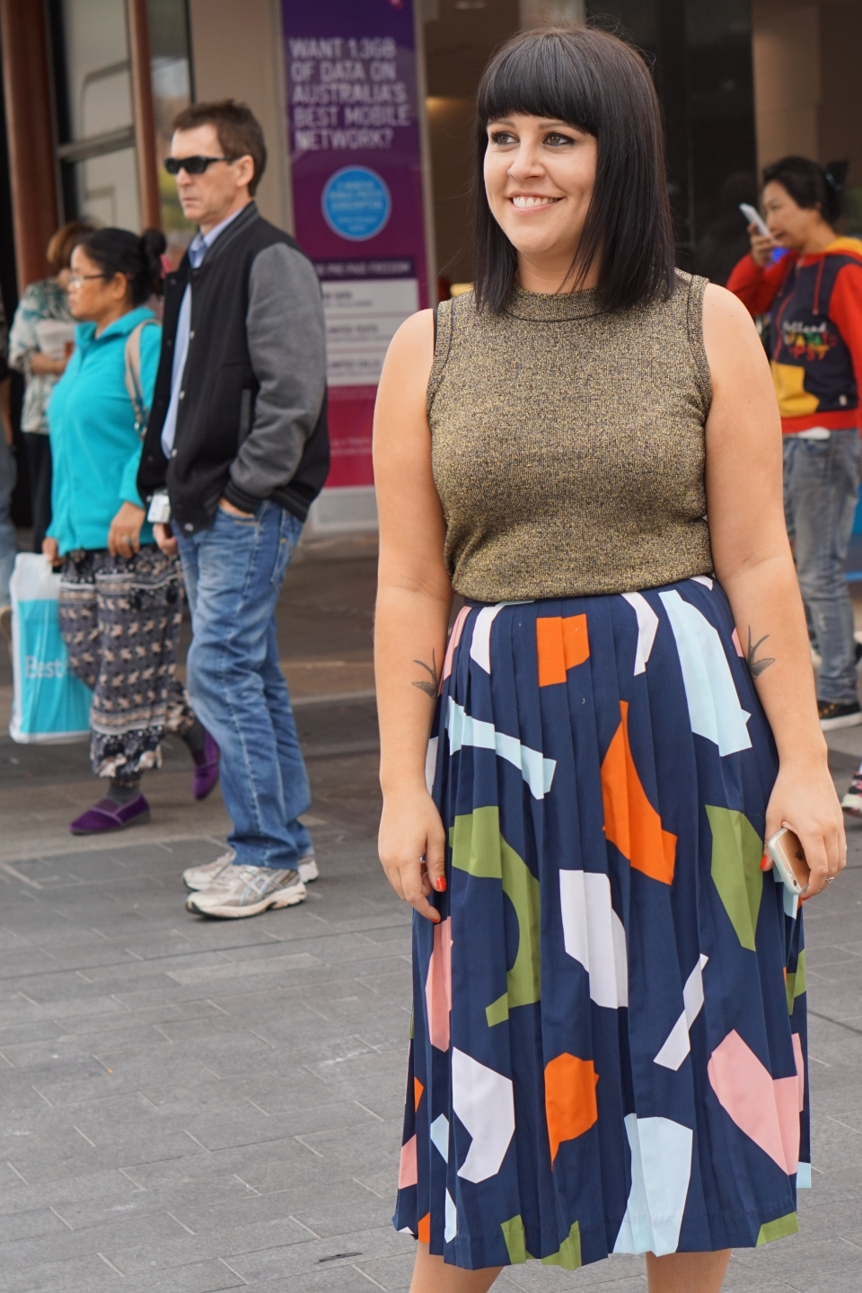 "SA: Steph Berndt, retail store manager, snapped in Rundle St Mall, Adelaide. ""I'm looking forward to the weekend."""