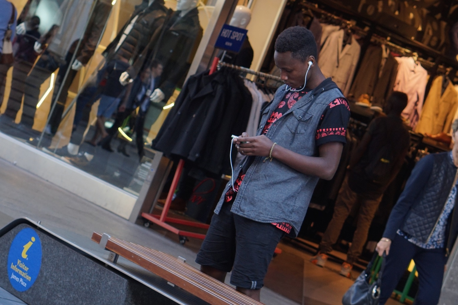 "Clement Rukundo, student, Rundle Mall, Adelaide. ""I like to dress as a swage, break dancing and chilling with friends."""