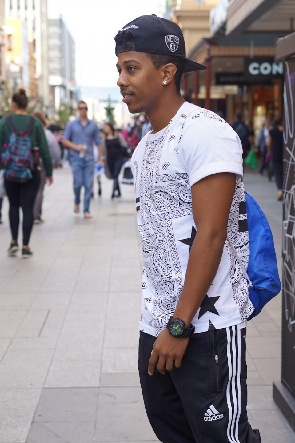 "SA: Nani Bekele, Rundle Mall, Adelaide. ""Most of the items I like to wear Nike or Addidas because I'm a soccer player."""