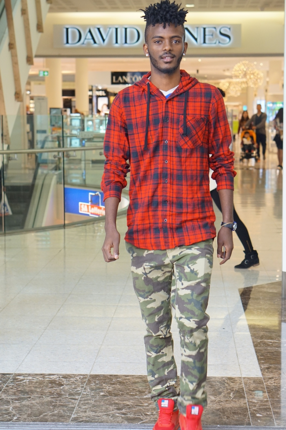 "SA: Tony Eshete, student, Adelaide Central Plaza. ""I usually like to wear simple clothing, Addidas and Nike."""
