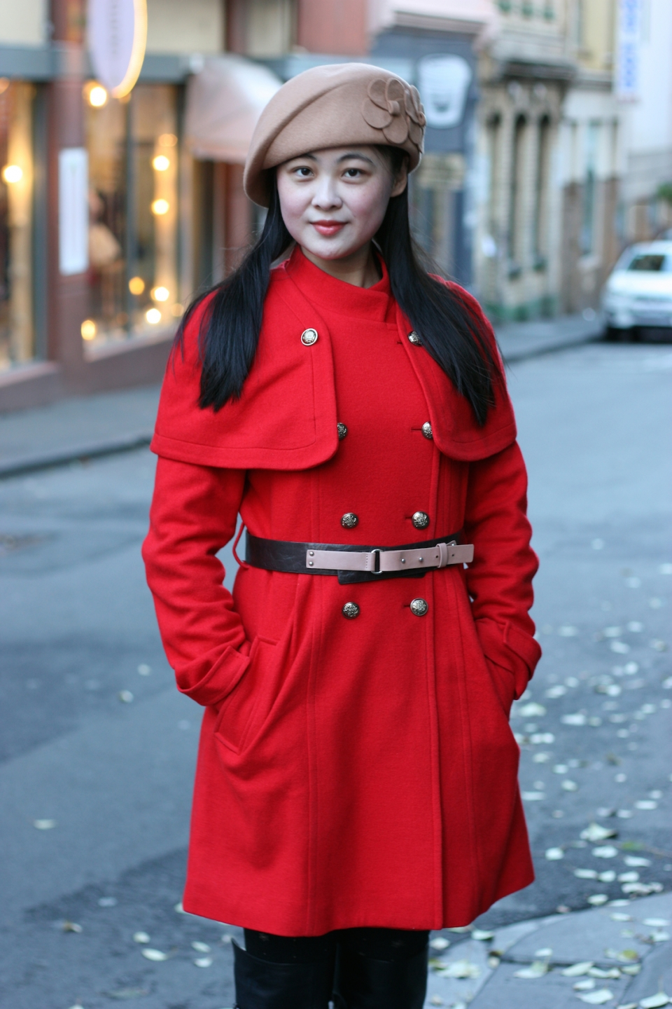 "VIC: Victoria, student, Little Lonsdale St, Melbourne. ""I like colourful clothing and classic designs."" Photo: by Mary Tham."