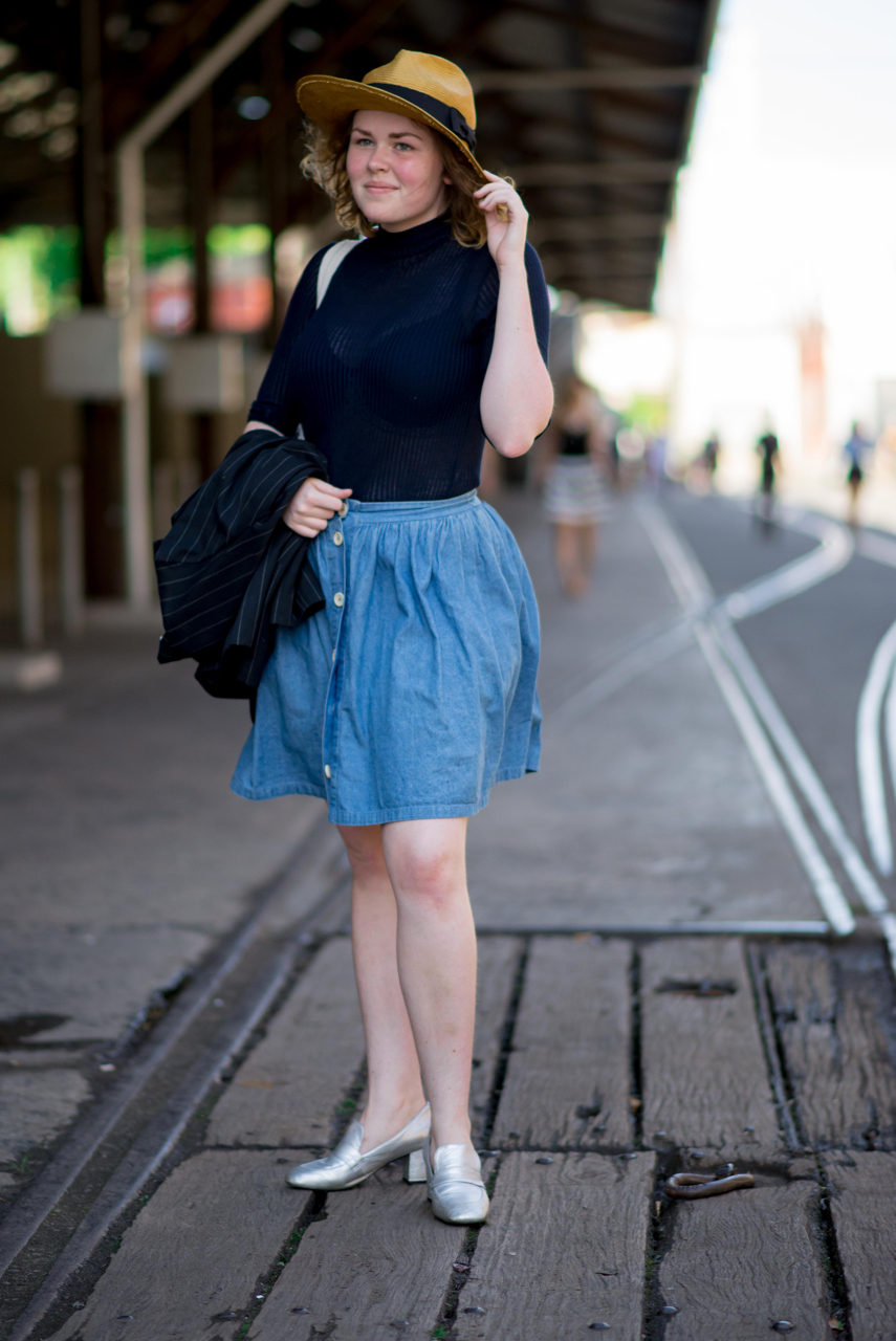 "NSW: Beatrice Tucker, student, Sydney. ""I steal clothes off my sister."" Photo: Dimitra Koriozos"
