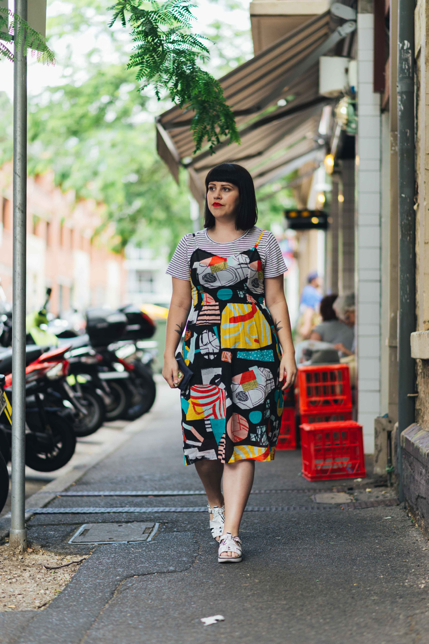 "SA: Steph Berndt, Retail Manager, <a href=""http://www.rundlestreet.com.au/"" target=""_blank"">Union St</a>, Adelaide. ""Clashing and layering."" Photo: Dimitra Koriozos"