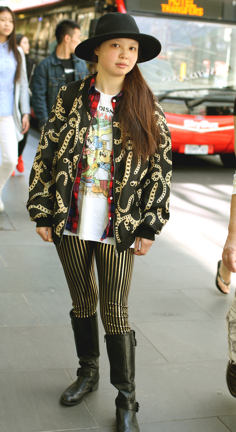 "Vic: Jess Chin, student, Melbourne city. ""My style is K-pop Airport Fashion."" Photo: <a href=""http://www.marythamphotography.weebly.com/"" target=""_blank"">Mary Tham </a>"