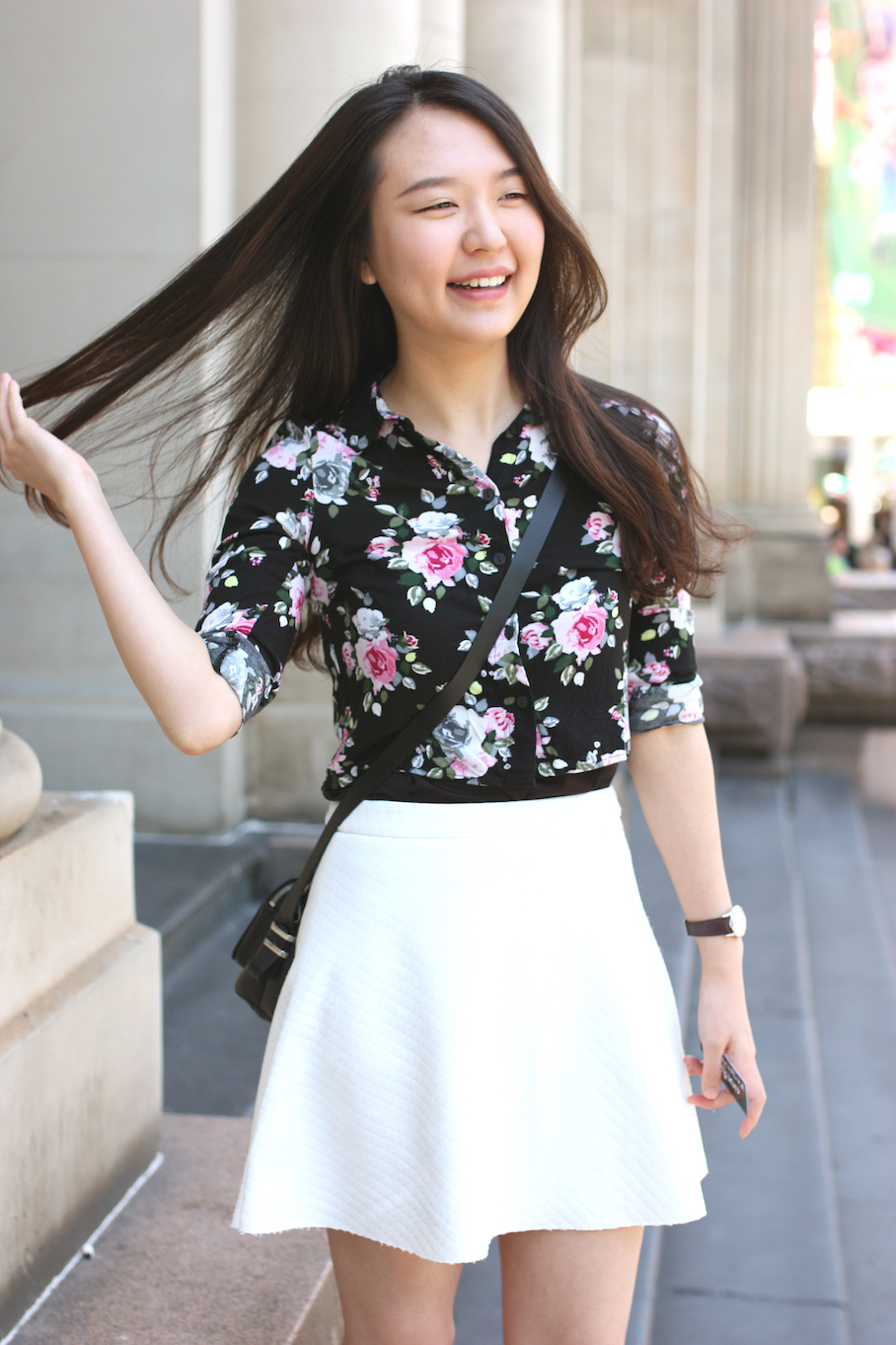 """Vic: Jihyeon Choi, student, GPO, Melbourne. """"I'm a H and M girl.""""Photo: <a href=""""http://www.marythamphotography.weebly.com/"""" target=""""_blank"""">Mary Tham </a>"""