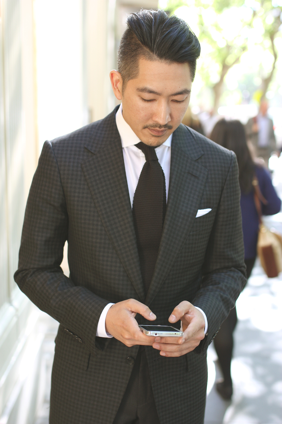 """Vic: Nami Nguyen,  Manager at Tom Ford, Collins St, Melbourne. """"My style's a mix between street and satorial - streetorial."""" Photo: <a href=""""http://www.marythamphotography.weebly.com/"""" target=""""_blank"""">Mary Tham </a>"""