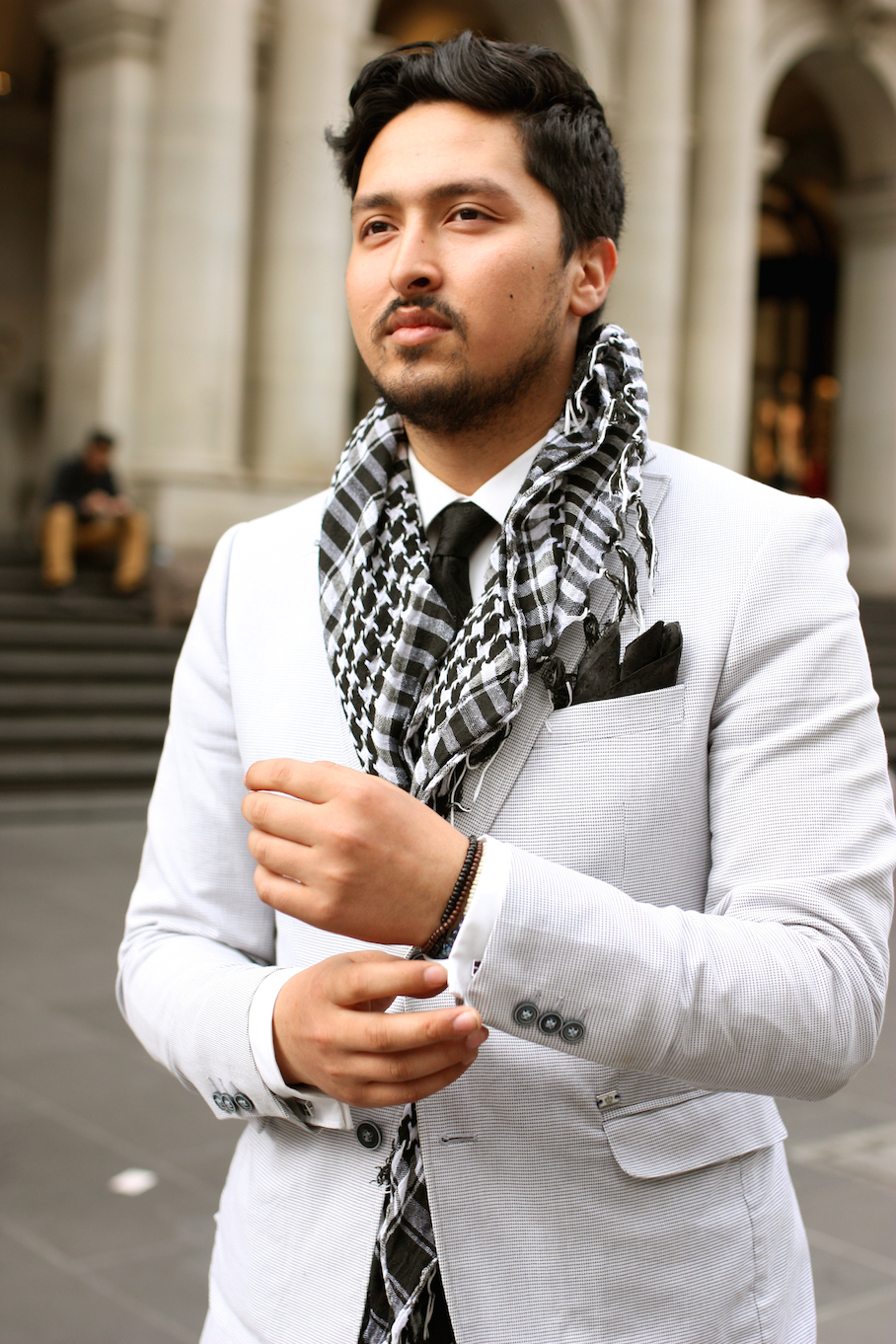 "Vic: Hamid Zawari, stylist - Myer, spotted out front of Melbourne's GPO. ""I'd describe my style as simple and elegant."" Photo: <a href=""http://www.marythamphotography.weebly.com/"" target=""_blank"">Mary Tham </a>"