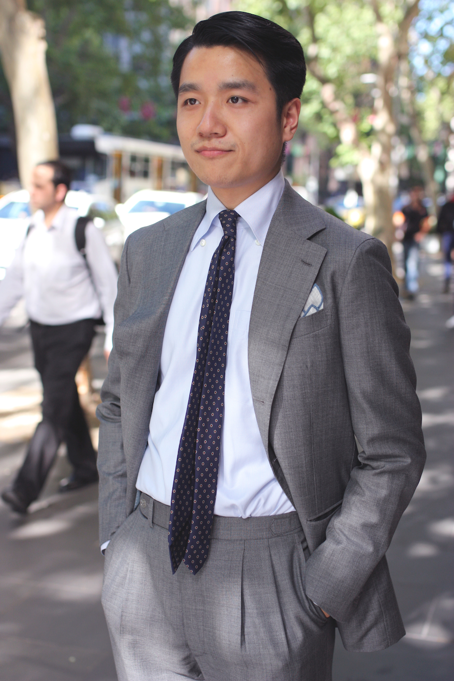 "Vic: William Shen, student, Monash. ""I like Italian tailoring, Napoliatana style."" Photo: <a href=""http://www.marythamphotography.weebly.com/"" target=""_blank"">Mary Tham </a>"