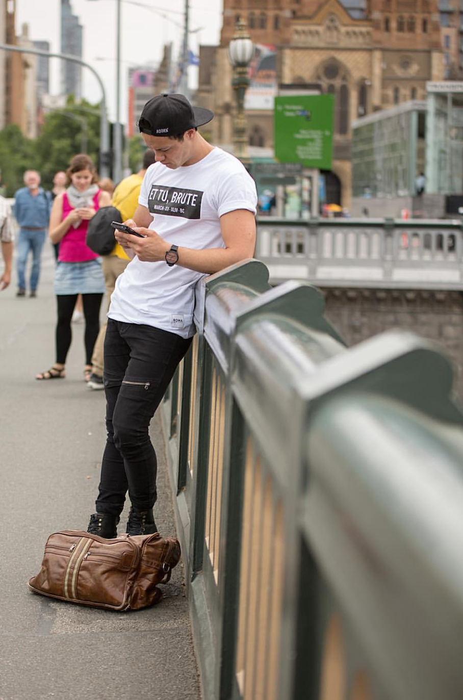Vic: Rory McKenna, Swanston St, Melbourne, snapped by Ryan Murch.
