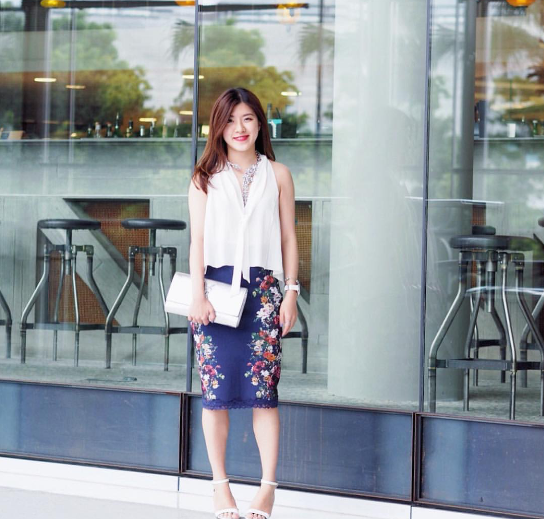 "NSW: Karen Kwan, Law-Commerce Student, at The Star, Sydney. ""My style's minimalist with a touch of feminine."" Photo: Li Lin"
