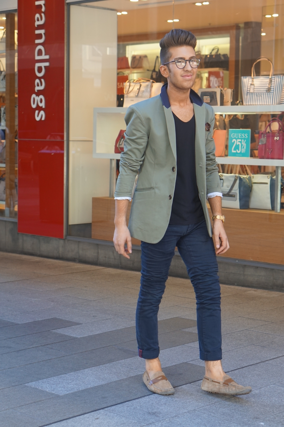 "SA David Longo, retail and music, Gawler Place, Adelaide. I dress with my own sense of fashion and I do music""."