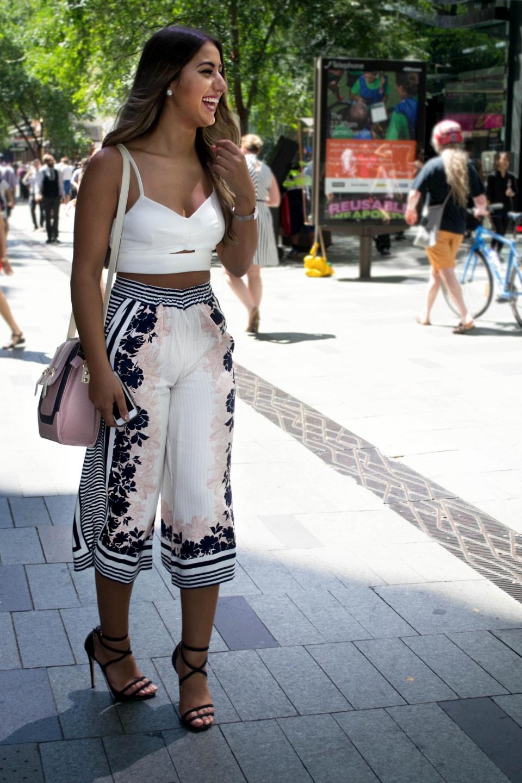 "NSW: Christina El Khouri, Pitt St, Sydney. Photo: ""Fashion is eternity!"" Photo: Alice Sciberras"