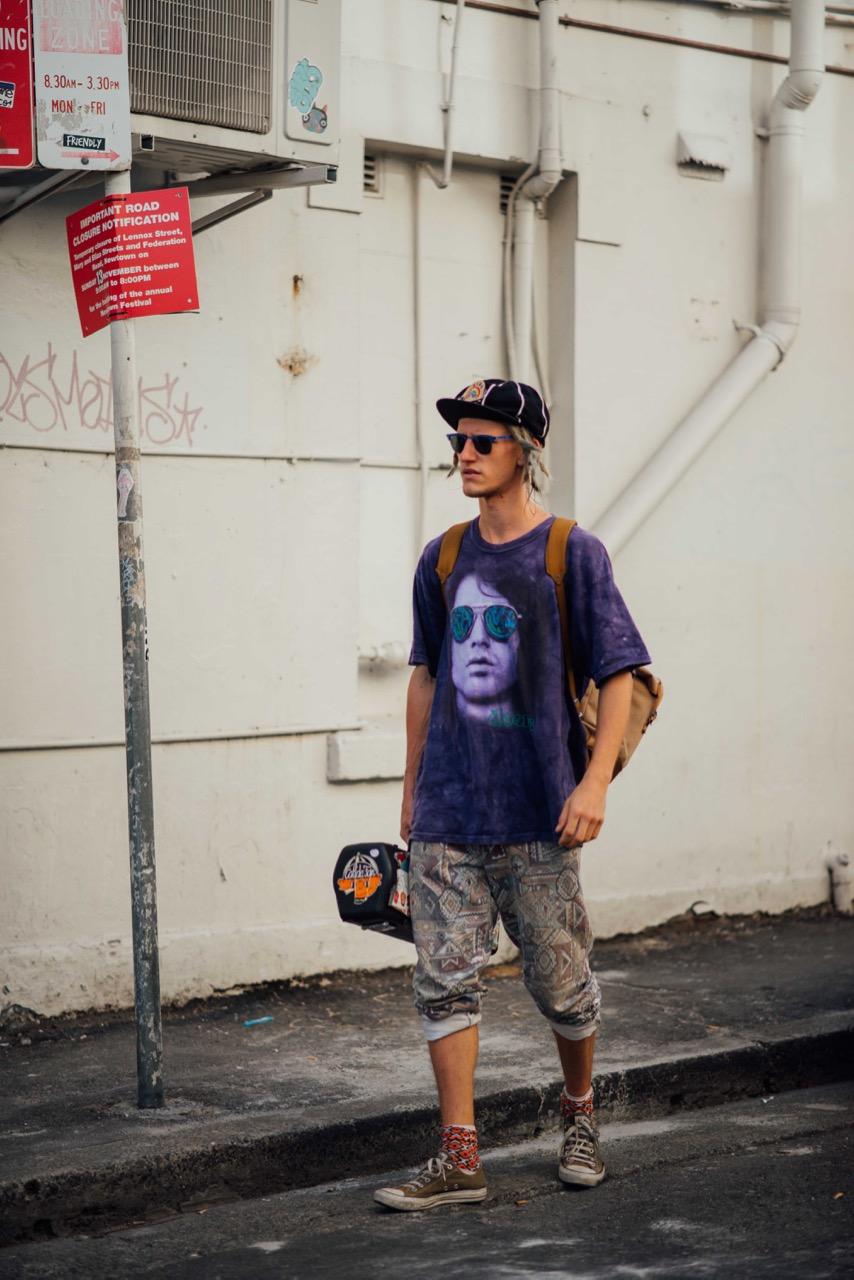 "NSW: Zac, King St, Newtown. ""Follow your feet, follow the beat."" Photo: Dimitra Koriozos"