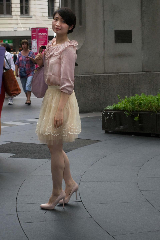 Rachel Zhong, student, at QVB. Photo: Alice Sciberras.