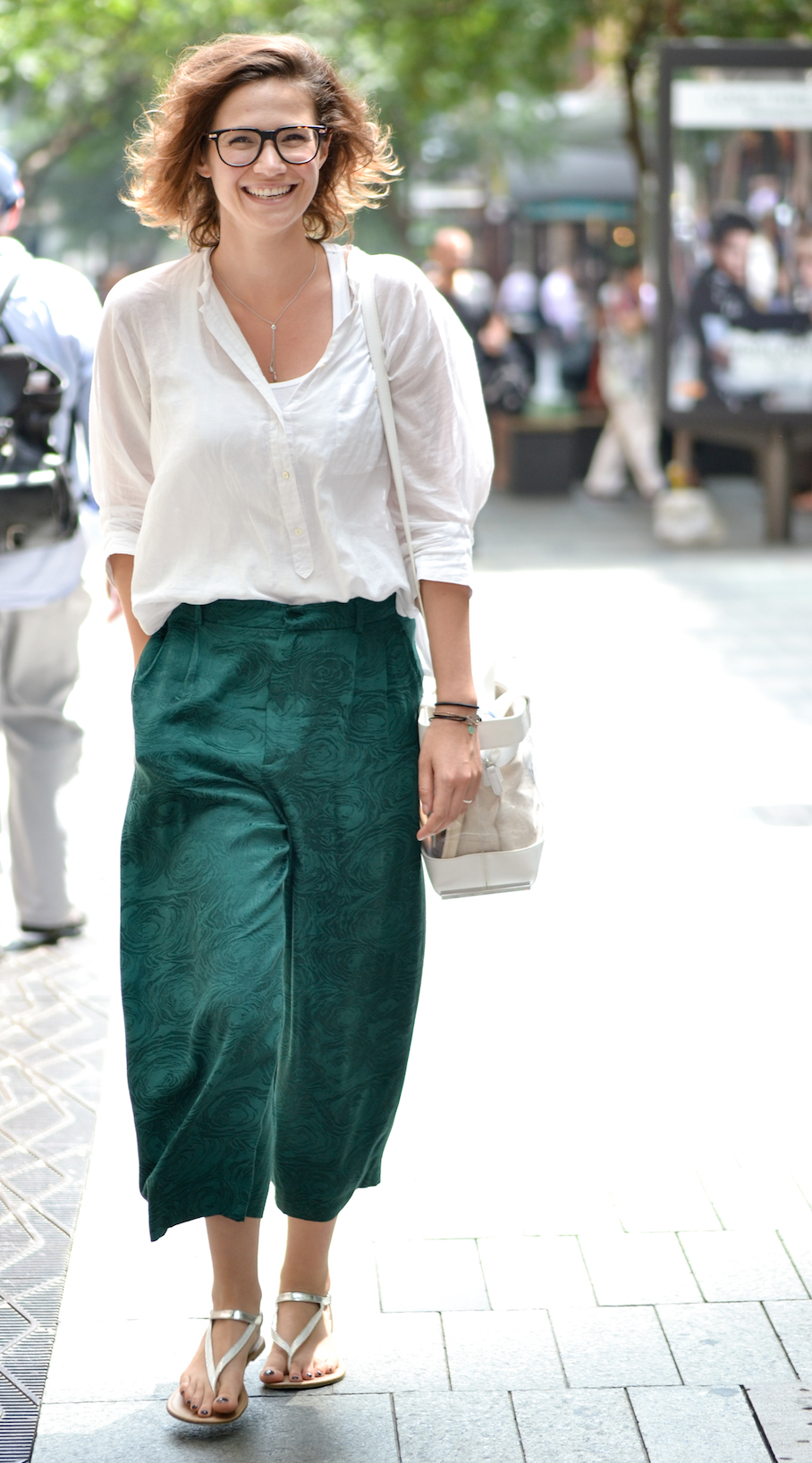 "NSW: Adéline Meynet, Sydney CBD. ""My style is simple, chic and reflects my mood."" Photo: Alice Sciberras"