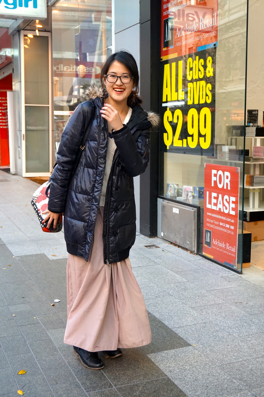 "SA: Yundi Yuan, Music Student, Rundle Mall. "" I haven't been asked before about my style. I don't know what I should say."""