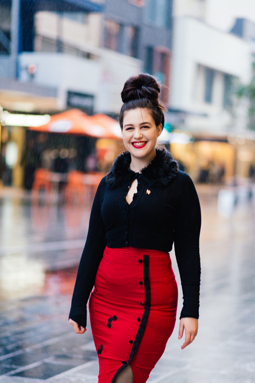 "SA:  Samantha Scali, Retail Assistant, Rundle Mall. ""I'm built for comfort not for speed."" Photo: Dimitra Koriozos"