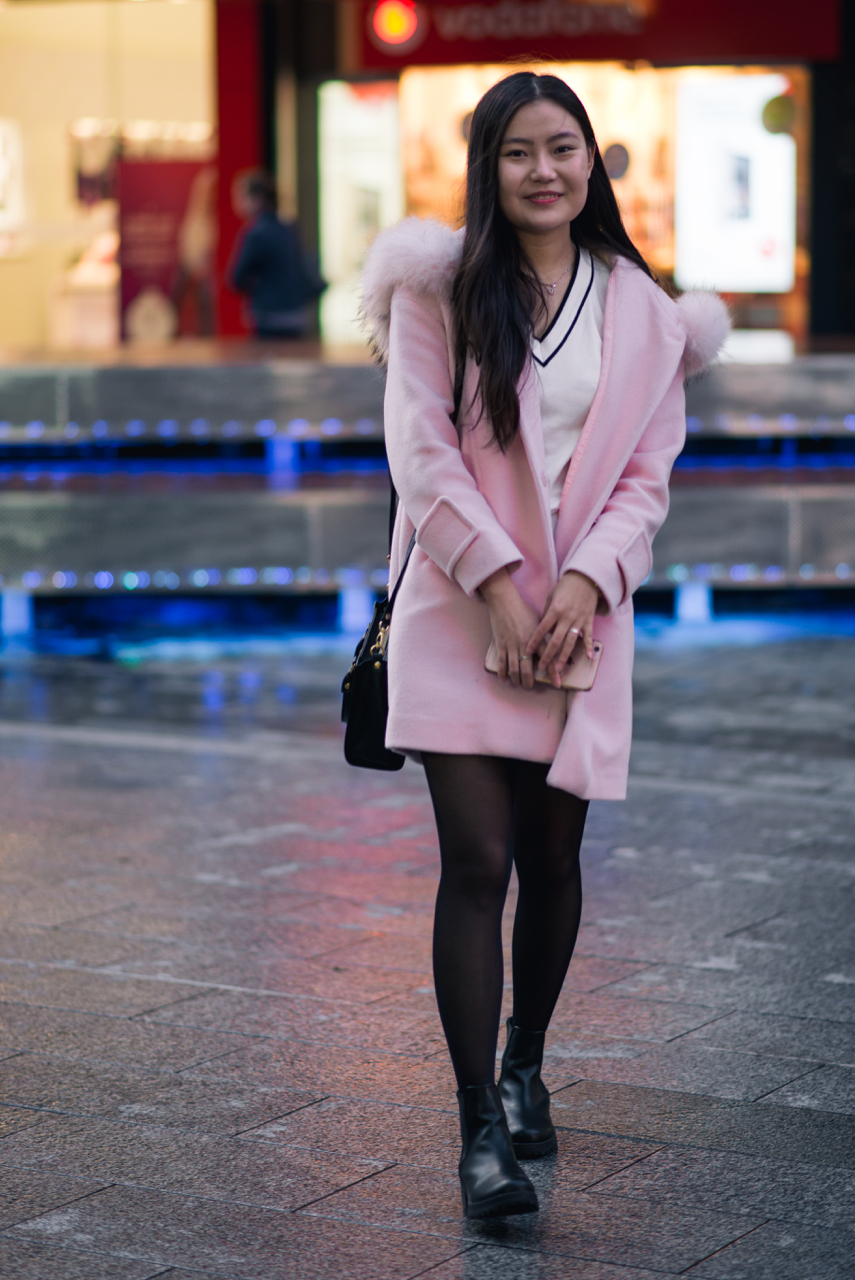 "SA: Elena, Student, Rundle Mall. ""I like pink."" Photo: Dimitra Koriozos"