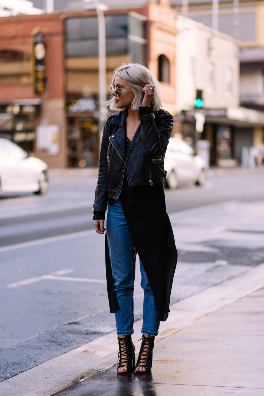 "SA: Laura Stone, 2IC - Tony Bianco, Rundle Street. ""My style's casual."" Photo: Dimitra Koriozos"