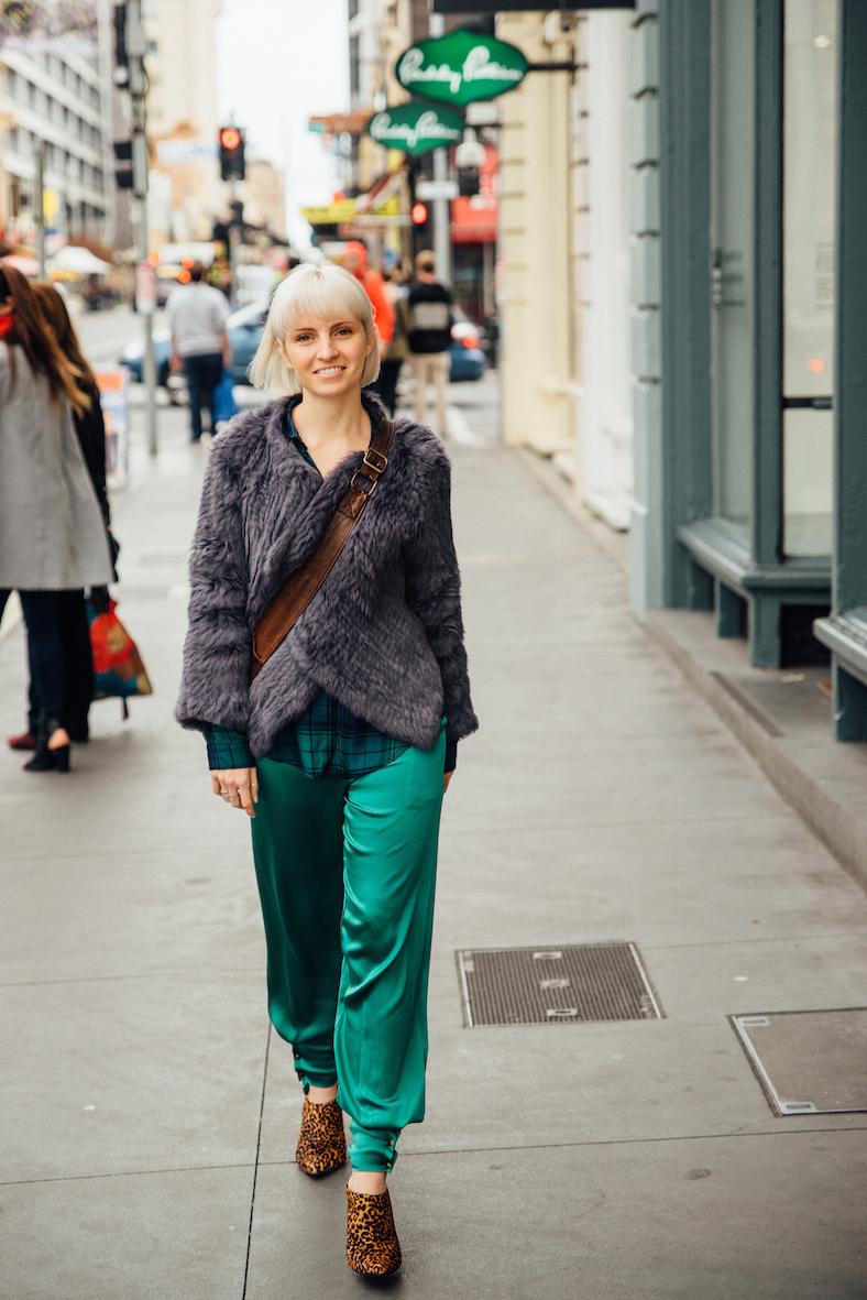 """SA: Madeleine Holmes, retail, Rundle St East. """"I'm the salt of the 'Salt & Pepper'."""" <a href=""""http://www.foxowlphotos.com/"""" target=""""_blank""""> Photo: John Wilson </a>"""