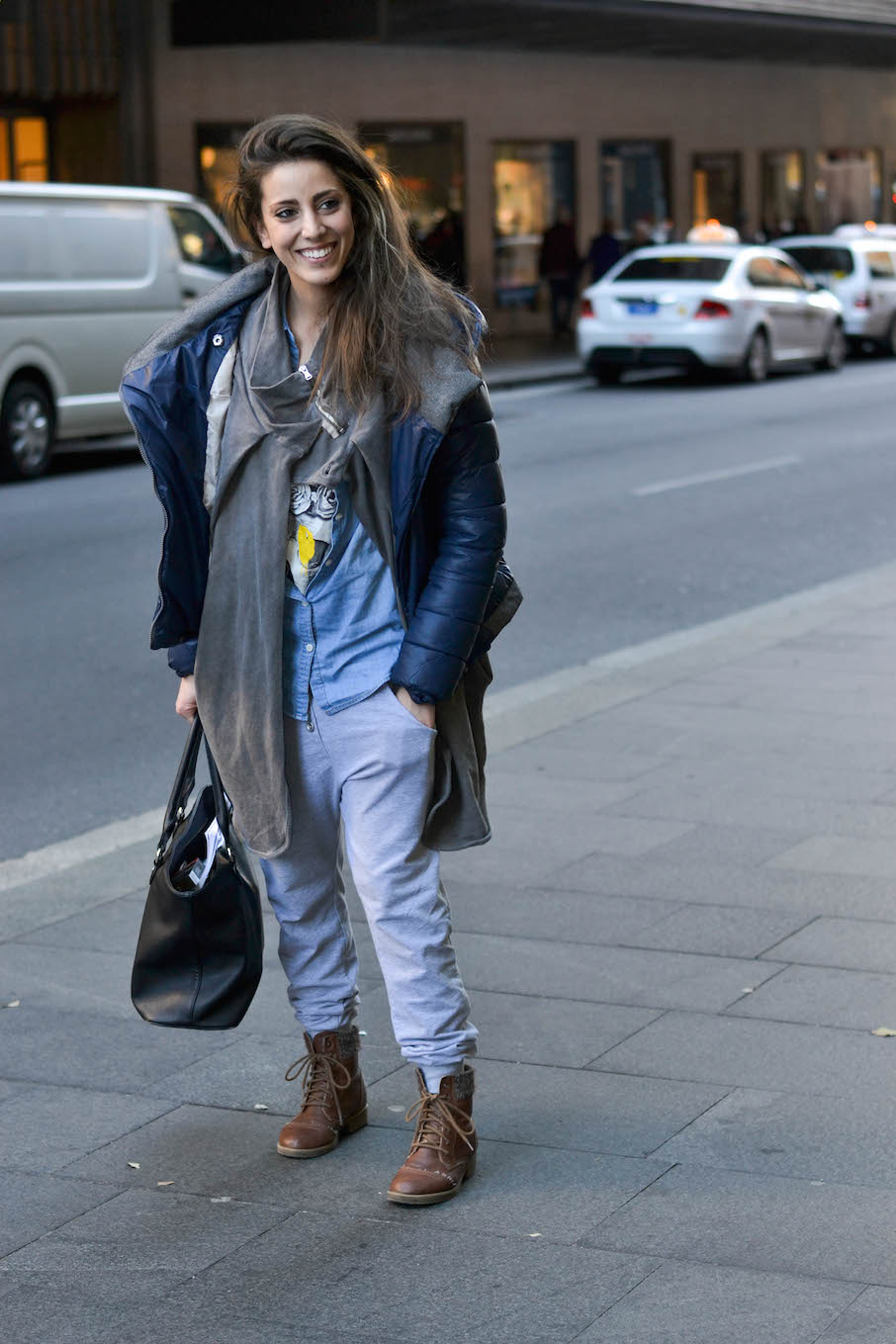 "NSW: Melissa Ammirati, bar manager, Market St Sydney. ""My style's all on the top."" Photo: Alice Scriberras"