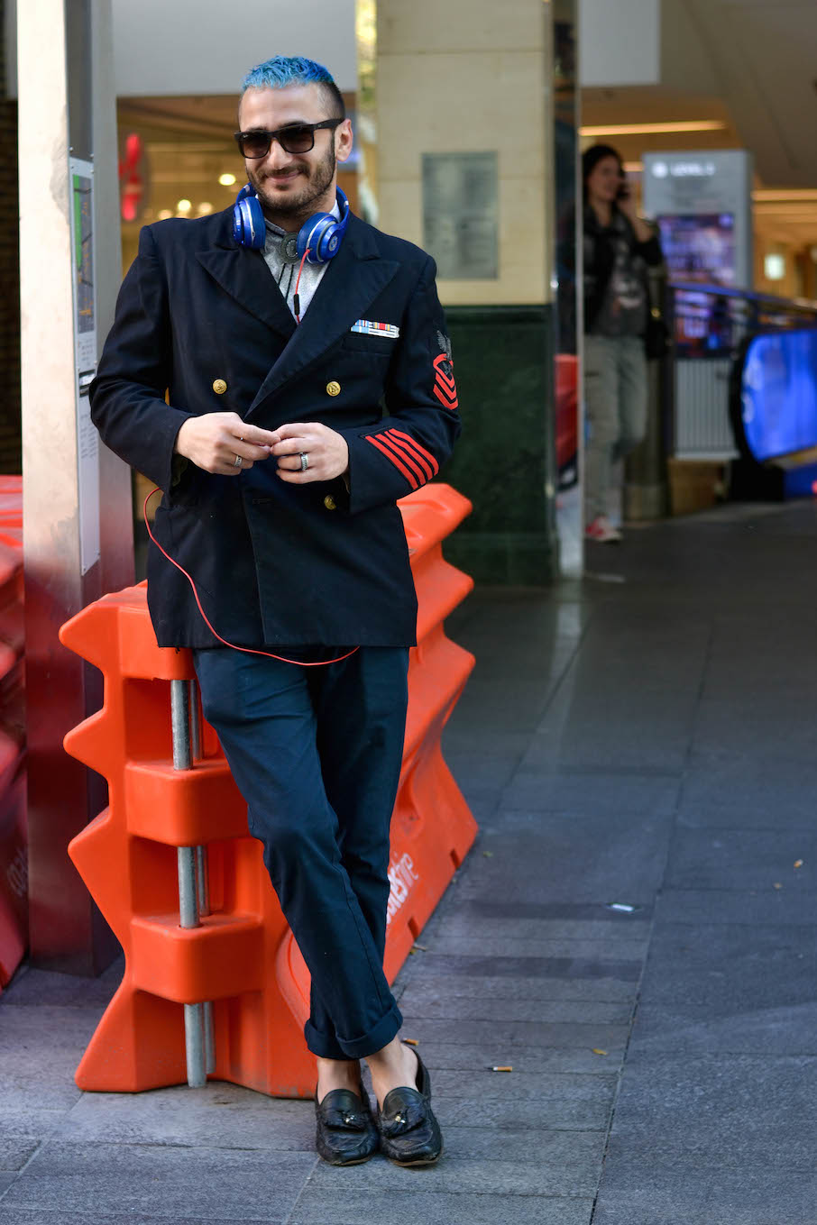 "NSW: Henriko Melki, hairdresser, Pitt St Mall. ""Rollin' down the street smokin'.""Photo: Alice Scriberras"