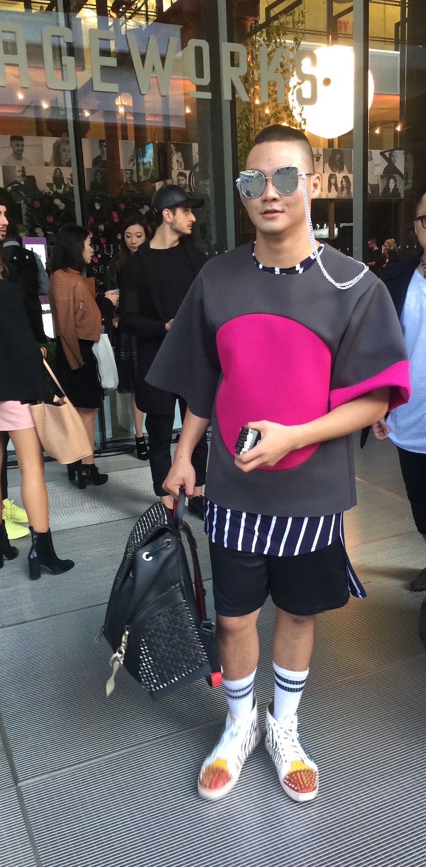 NSW: We spotted this rad guy at Fashion Week. Sorry we missed getting your name.