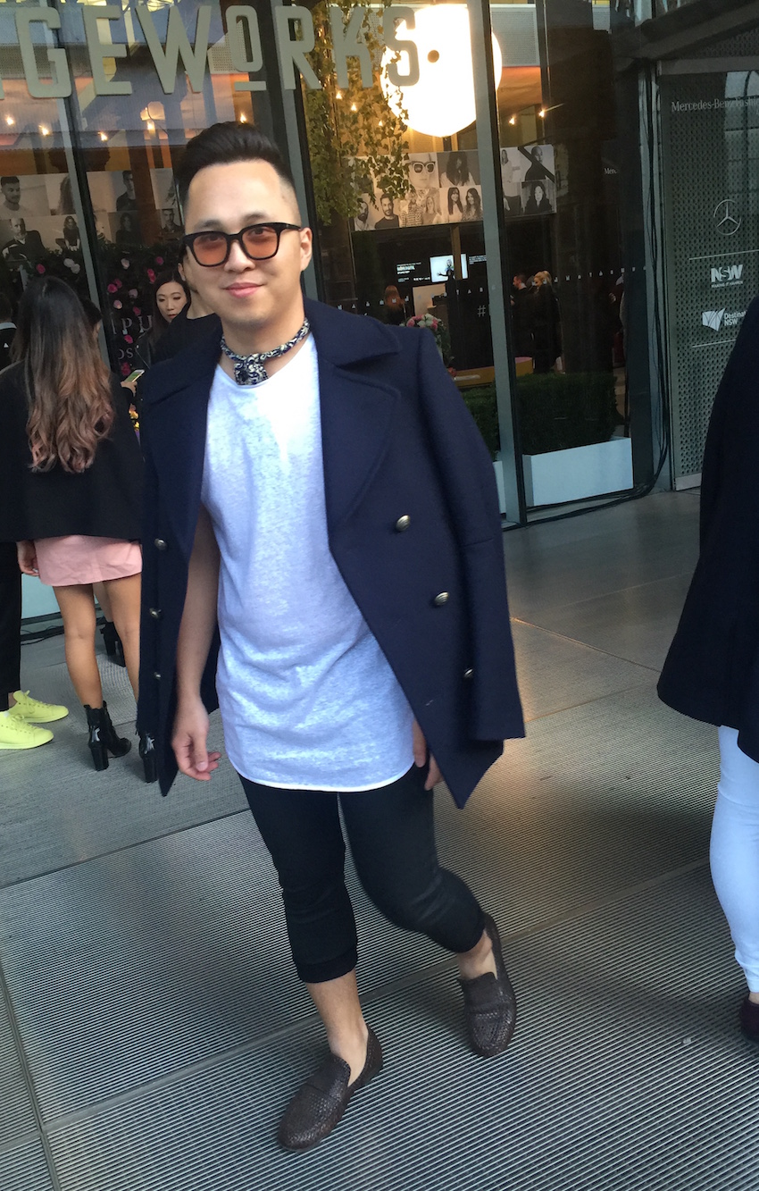 NSW: Another rad guy snapped at Fashion Week, there for the Raffles runway show. Sorry we missed getting your name :(