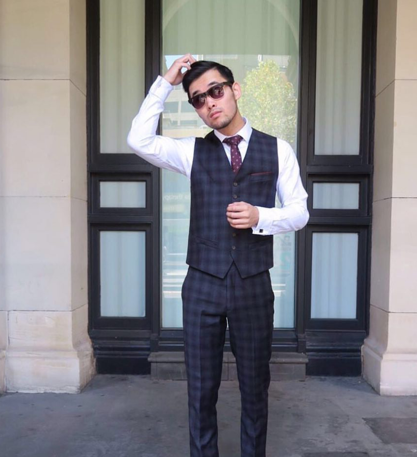 "Vic: Kevin Trong, Fashion Blogger. ""The days of waistcoats being associated with waiters are long over."""