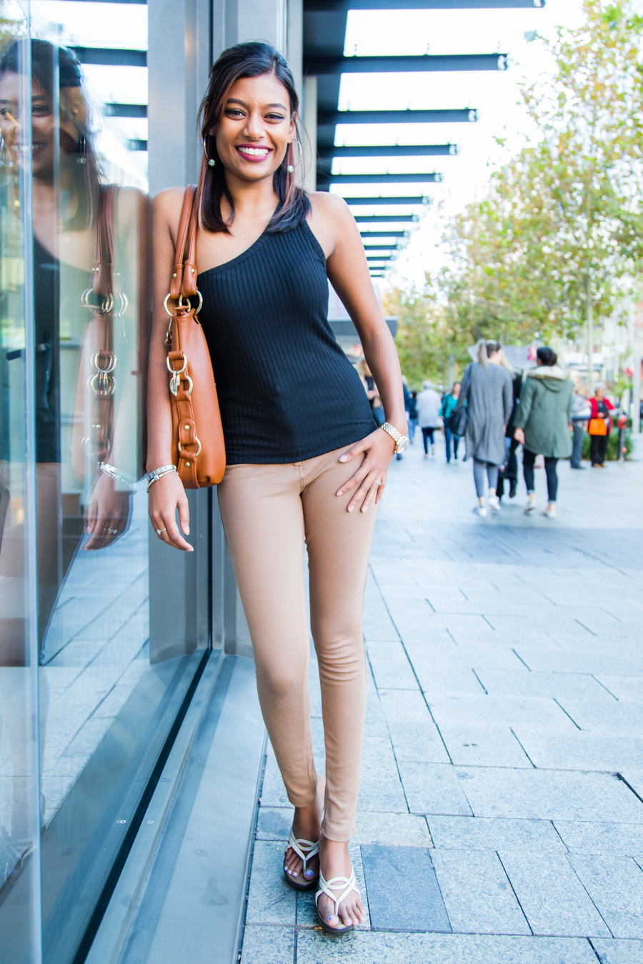 "WA: Micaela Murugan, Student, Perth CBD. ""Thank you, I'm flattered that  you want to take my photo."" Pic: <a href=""http://www.rahstudios.com.au/street-style.html/"" target=""_blank"">Alain Quah</a>"